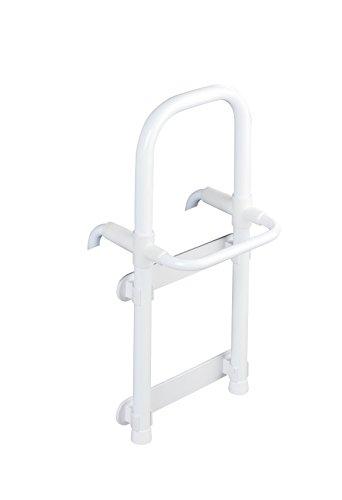 WENKO Badewannen-Einstiegshilfe Secura Weiß - verstellbar, belastbar bis 150 kg, Aluminium, 23 x 52 x 22.5-39.0 cm, Weiß