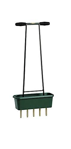 BMS Rasen Aerifiziergabel mit Auffangbehälter und Hohlzinken zur Belüftung von Rasenflächen