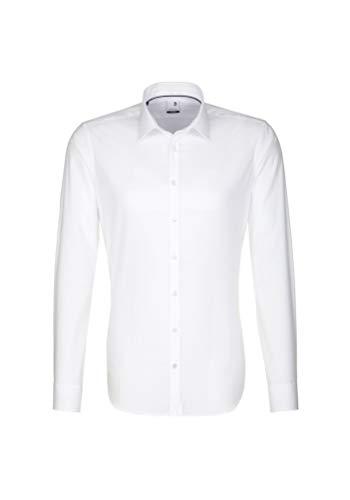 Seidensticker Herren Business Bügelfreies Hemd mit sehr schmalem Schnitt - X-Slim Fit, Weiß (Weiß 01), 39