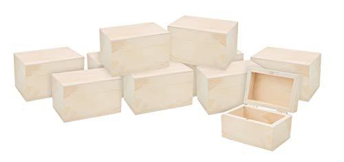 10 Holzkästchen mit Magnetverschluss VBS Großhandelspackung