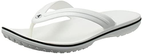 Crocs Unisex Crocband Flip, White, 43/44 EU