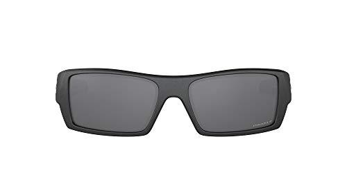 Oakley Men's Gascan Polarized Rectangular Sunglasses, Steel /Prizm Black, 60mm