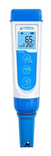 Apera Instruments PH60 Premium pH-Meter (Genauigkeit pH ±0,01, Messbereich pH -2,0-14,0, austauschbare Elektrode, wasserfest, Temperaturanzeige)