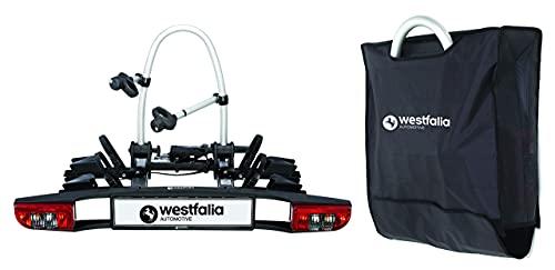 Westfalia BC 60 Fahrradträger für die Anhängerkupplung inkl. Tasche - Klappbarer Kupplungsträger für 2 Fahrräder - E-Bike geeigneter Universal-Radträger mit 60 kg Zuladung