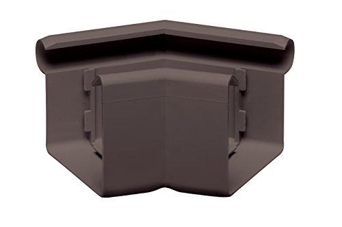 Rinnenwinkel 135 Grad kastenförmig NW 68 INEFA Dunkelbraun Wulst außen, Kunststoff, Verbindungsstück, Dachrinnen Zubehör fürs Gartenhaus