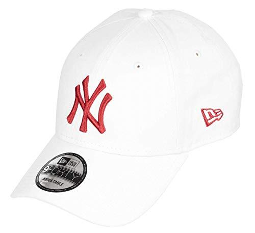 New Era New York Yankees Cap MLB 9forty verstellbar Baseball Kappe Weiss - One-Size