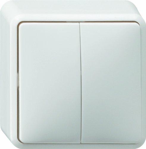 Gira Wippschalter 010513 Serienschalter AP reinweiss, 250 V