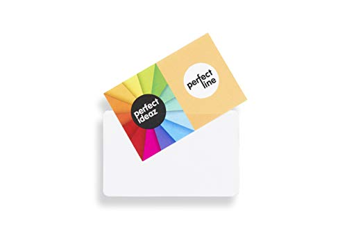 perfect line 100 Visiten-Karten-Hüllen selbstklebend 95 x 60 mm, Klebe-Einsteck-Tasche permanent haftend, transparent & glasklar, Zubehör zur Aufbewahrung für Namensschild, Scheck- oder Kredit-Karte