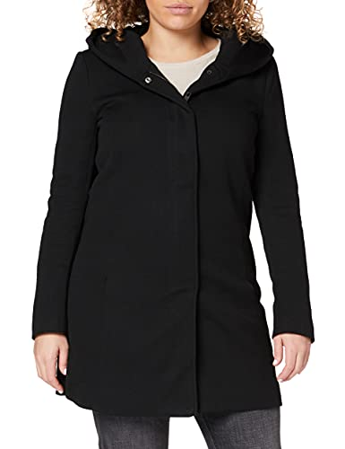 ONLY Damen ONLSEDONA Boucle Wool Coat OTW NOOS Mantel, Schwarz(BlackMELANGE), 34 (Herstellergröße: XS)
