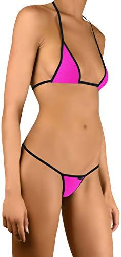 Sohimary 220 Damen Mini String Tanga Bikini XS S M L 32 34 36 38 Pink