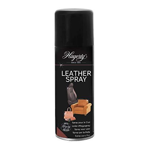 Hagerty Leather Spray 125 g I Effizientes Leder-Schutz-Spray für die Reinigung und Pflege von Leder I Lederreiniger für Möbel Taschen Gürtel Jacken Accessoires Autositze Motorrad Kleidung uvm
