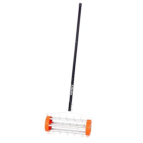 Fuxtec Rasenlüfter FX-RL400 mit 43 cm Breite, Vertikutierer Rasenbelüfter Rasenrolle