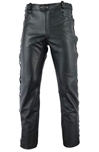 Gaudi-Leathers Motorrad Lederhose seitlich Geschnürt Motorradhose Leder Jeans 42