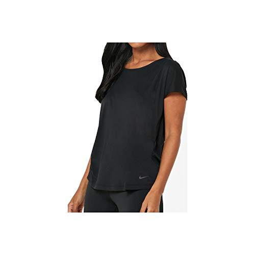 Nike Damen W NP Dry ELASTIKA SS TOP ESSNT T-Shirt, Magic Flamingo/Barely Rose/(White), XS