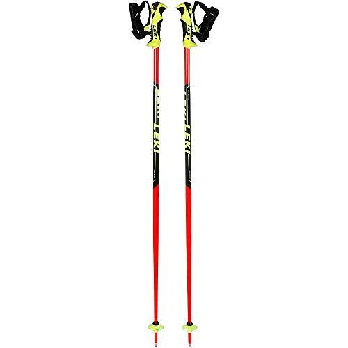 LEKI Kinder Worldcup Lite SL Skistöcke, Neonrot/Schwarz/Weiß/Neongelb, 105 cm