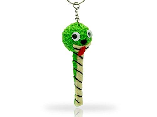 Alsino Voodoo Puppe Püppchen Sorgenpüppchen Voodoopuppe Glücksbringer Voodoll Schlüsselanhänger, wählen:SA-V207 Raupe