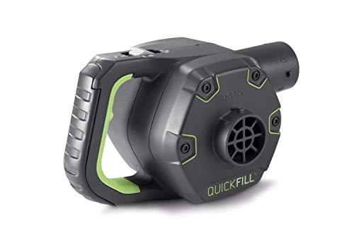 Intex Quick Fill Rechargable Elektrische Pumpe - Wiederaufladbare elektrische Luftpumpe - Mit 3 Düsenaufsätze