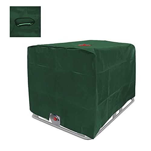 TWSOUL IBC Tank Abdeckung, Abdeckplane für Wassertank 1000L, IBC Container Cover, Abdeckplane Schutzhülle Schutzhaube Schutzplane Geeignet für IBC-Tank Behälter Container Regenwassertank (grün)