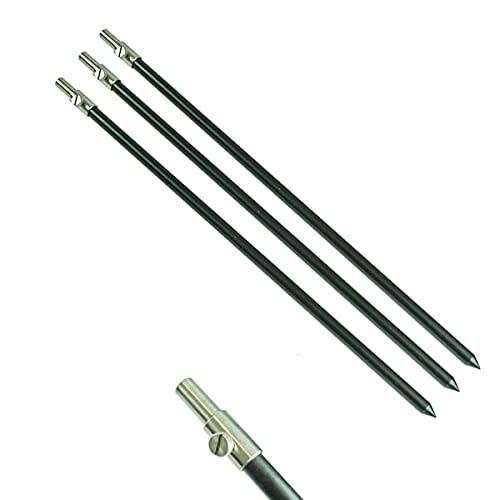 DD-Tackle 3 Stück Set Alu Bank Stick 50-90cm Bankstick Ruten Halter Ständer Rutenauflage Rod Pod Aluminium Rutenhalter Rutenständer Rod Pod Tele teleskop