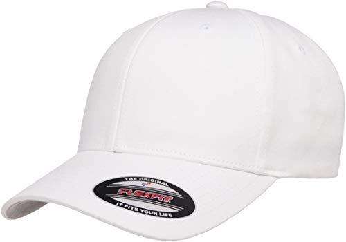 Flexfit Herren Men's Athletic Baseball Fitted Cap Kappe, weiß, S/M