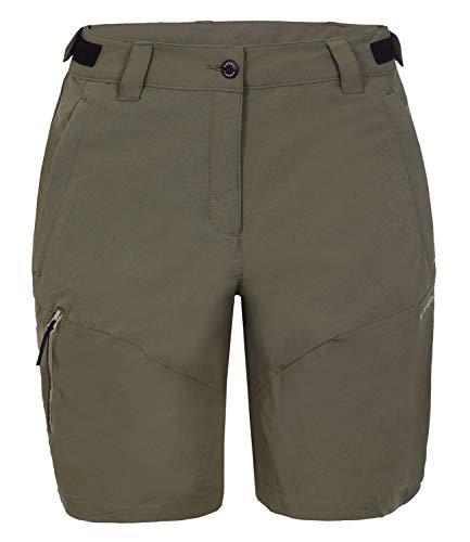 Icepeak Damen Funktionshose Wanderhose Outdoorhose Pants Saana 3-54 503 522, Farbe:Braun, Größe:46, Artikel:-066 Cafe au Lait