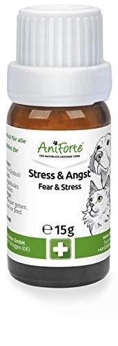 AniForte Stress & Angst Globuli Bachblüten für Hunde, Katzen, Haustiere - Beruhigung & Entspannung, Natürliches Beruhigungsmittel bei Furcht, Unruhe, Reisen, Auto, Urlaub, Unwetter, Lärm & Rescue