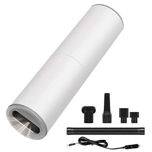 YUDICP Auto-Staubsauger, Hochleistungs-Mini-Handstaubsauger, Nass/Trocken, tragbarer Auto-Staubsauger, 120 W/7000 Pa für Autoinnenraum, schnelle Reinigung (weiß)