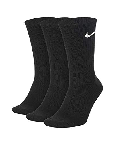 Nike Everyday Lightweight Training Socks Socken 3er Pack (M, black/white)