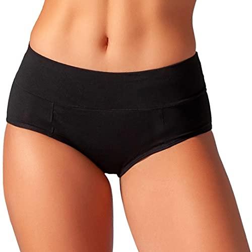 Bambody Schutzunterwäsche: spezielle saugfähige + auslaufsichere Menstruationswäsche | für tagsüber und für die Nacht (X-SMALL, 1 Pack: SCHWARZ)