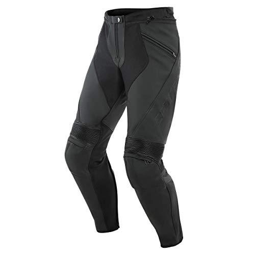 Dainese Kombihose Lederkombi Motorradhose mit Protektoren Pony 3 Lederhose schwarz 50 (M), Herren, Sportler, Ganzjährig