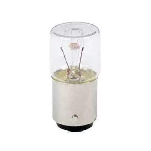 Schneider DL1BA260 Glühlampe für Befehls- und Meldegeräte, BA 15d, 220-260 V, 6 W, Transparent