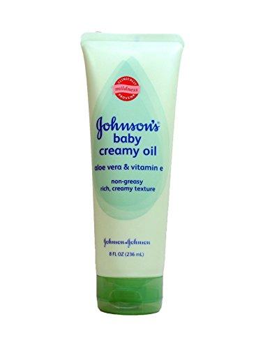 Johnsons, Baby Oil Creamy Aloe & Vitamin E, 8 fl oz each by Baby Oil Creamy Aloe & Vitamin