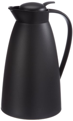 alfi 0825.020.100 Isolierkanne Eco, Kunststoff gefrostet Schwarz 1,0 l, 12 Stunden heiß, 24 Stunden kalt