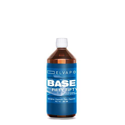 Elvapo 250ml BASE - Fifty Fifty: 30/70 (PG/VG) - Basisliquid für das Mischen von E-Liquids mit Aromen (für E-Zigaretten und E-Shishas) - 0mg (ohne Nikotin) - Liquid-Basen Made in Germany!