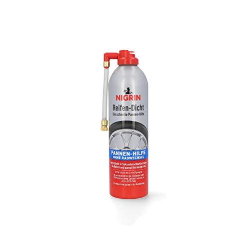 Nigrin 74074 Reifendicht, sofortige Pannenhilfe, 500 ml, Reifendichtmittel repariert Löcher im Reifen im Handumdrehen ohne Montage