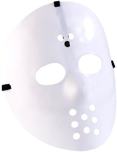 infactory Gesichts-Masken: Hockey-Maske für Halloween, weiß (Masken zum Kostümieren)