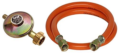 CFH Druckregler 50 mbar mit 80 cm Gasschlauch, 52452