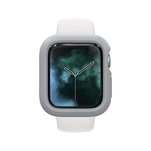RhinoShield Bumper Case kompatibel mit Apple Watch SE & Serie 6/5 / 4 - [44mm] | CrashGuard NX - Stoßabsorbierende Dünn Designte Schutzhülle 1.2M Fallschutz - Platinum Grau