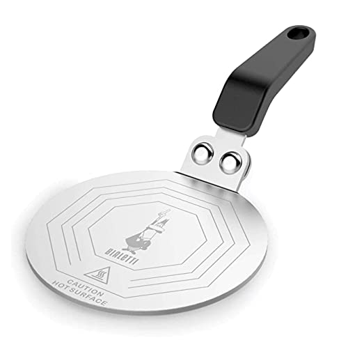 Bialetti Moka Induktionskochteller, Adapter für die Verwendung von Kaffeekannen und Kochgeschirr auf Induktionskochfelder, Stahl