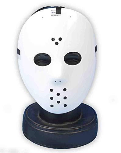 Weiß Hockey-Maske von Jason aus dem Film 'Freitag der 13. Halloween Fancy Dress