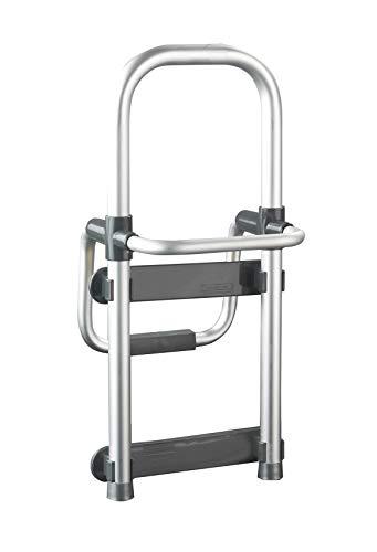 WENKO Badewannen-Einstiegshilfe Secura Silber - verstellbar, Aluminium, 24.5 x 52.5 x 23 cm, Aluminium