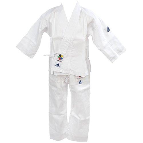 adidas Karateanzug K200E Kids Kinder Judo Anzug (inkl. Gürtel), Weiß, 170-180 cm