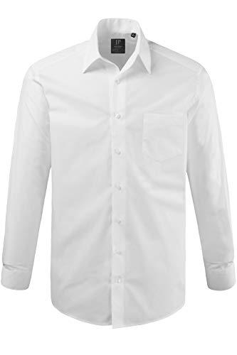 JP 1880 Herren große Größen bis 8XL, Hemd, Businesshemd, Brusttasche, Kragen & Comfort Fit, Reine Baumwolle, bügelleicht weiß 8XL 703633 20-8XL