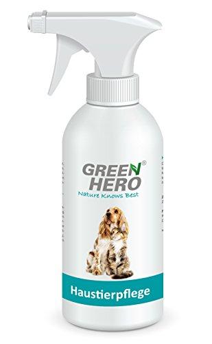 Green Hero Haustierpflege Pflegt die Haut und unterstützt den Regenerationsprozess bei Juckreiz Milben Pilz Räude Reizungen Läusen für Hund und Katze 500ml