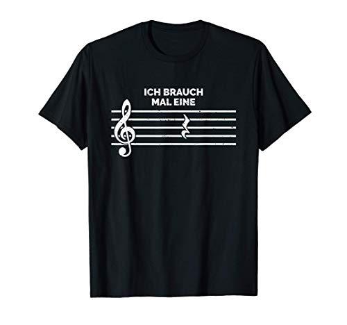 Ich brauch mal eine Pause Musik Orchester Geschenk T-Shirt