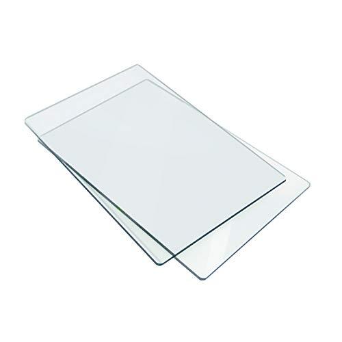 Sizzix 655093 Standard-Schneidpläne, 1 Paar, Kunststoff, 22.5 x 15.5 x 0.7cm