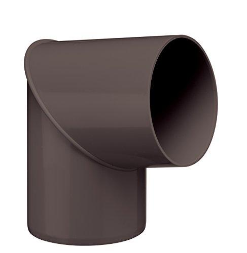 INEFA Rohrbogen, winkel für Fallrohr, 80 Grad Dunkelbraun DN 75 - Kunststoff, Fallrohrbogen, Winkel für Regenfallrorhr, Rohr Fallrohr - Verbinder, Zubehör, Rohrverbinder Regenrinnen
