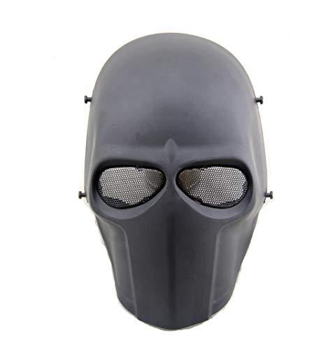 haoyk taktische Maske für Airsoft, Paintball, Cosplay, Hockey, BB, die schützende Vollmaske kann ebenfalls an Halloween getragen werden, Schwarz