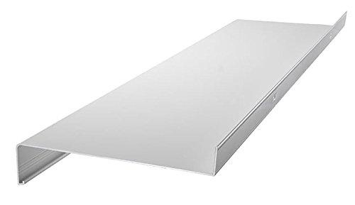 empasa Aluminium Fensterbank Zuschnitt auf Maß Fensterbrett Ausladung 110 mm weiß, silber, dunkelbronze, anthrazit