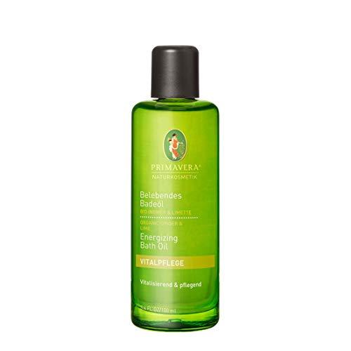PRIMAVERA Belebendes Badeöl Ingwer Limette 100 ml - Naturkosmetik - vitalisierend, pflegend, rückfettend - vegan